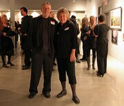 Marilyn Hurst and I at a  gallery opening